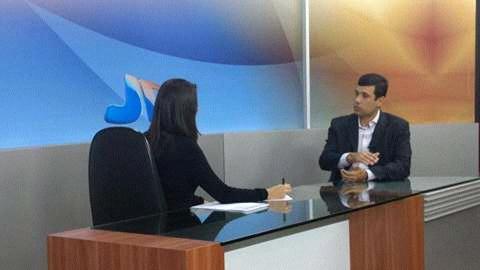 """Presidente da associação dos municípios Alagoano'' o prefeito de Cacimbinhas"""" Hugo Wanderley, deu entrevista na TV ponta verde SBT Alagoas."""