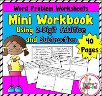 Mini Workbook using 2 Digit Word Problems