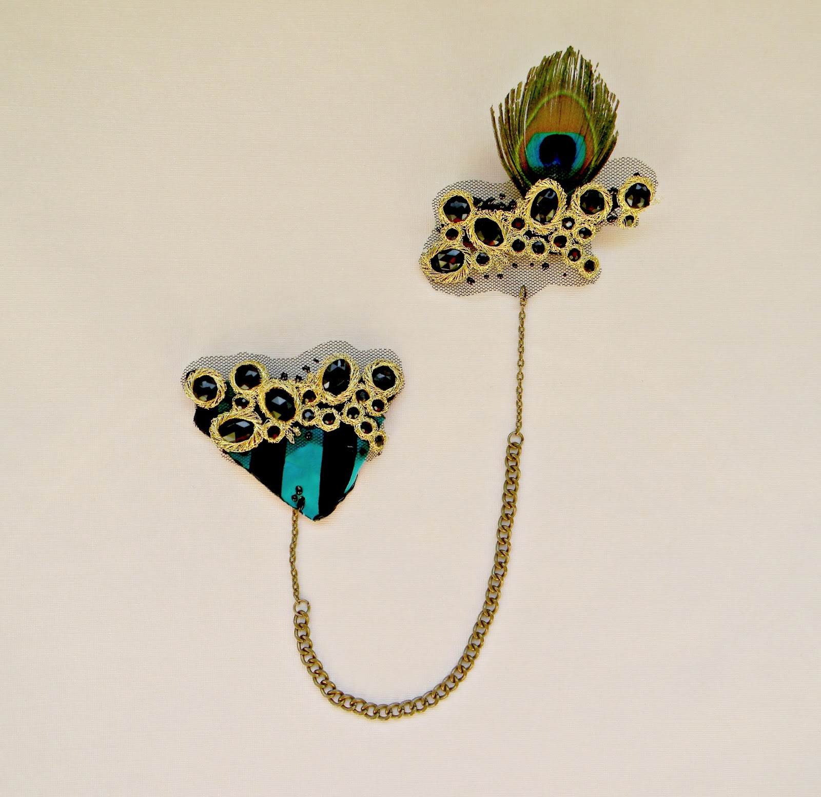 """Baroque Harmony"" Double Brooch"
