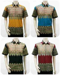 Model Batik Pria Motif Tenun Songket