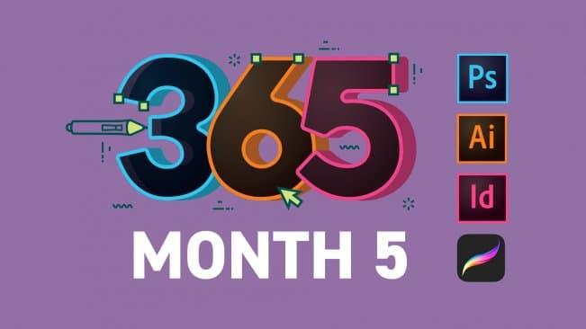 كورس كيف تكون مبدعاً بالتصميم في 365 يوم - الشهر 5
