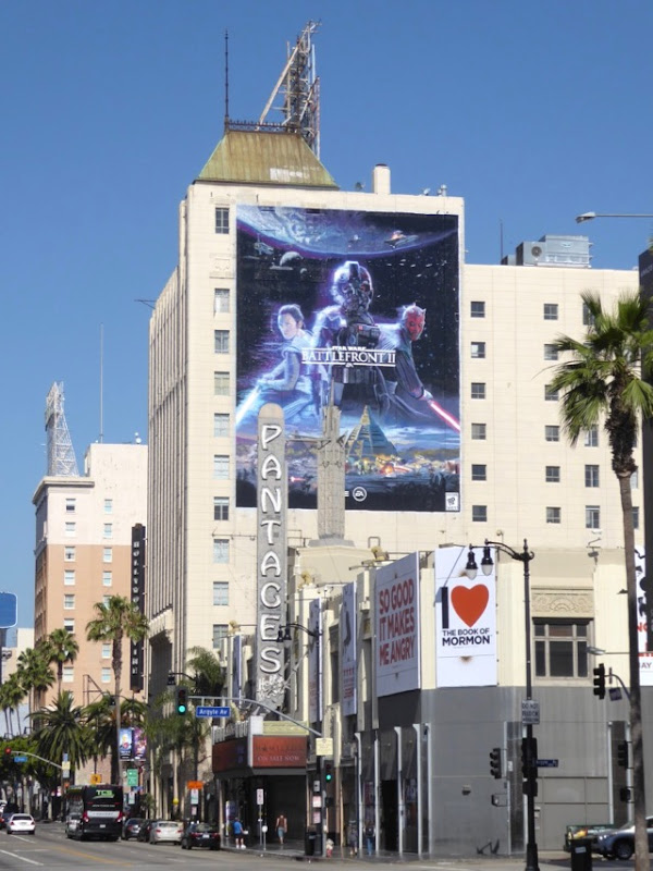 Star Wars Battlefront II billboard Hollywood