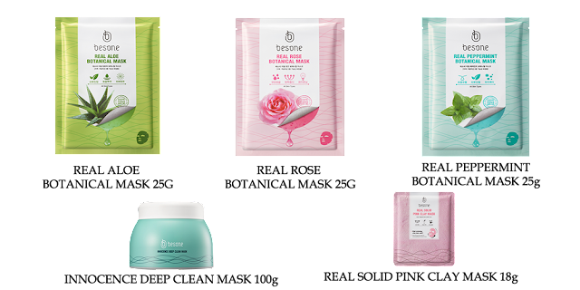 besone korean cosmetics masks