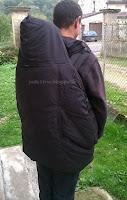 couverture portage lucky porter bébé chaud hiver manteau veste