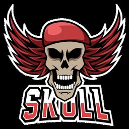 logo tengkorak baret merah