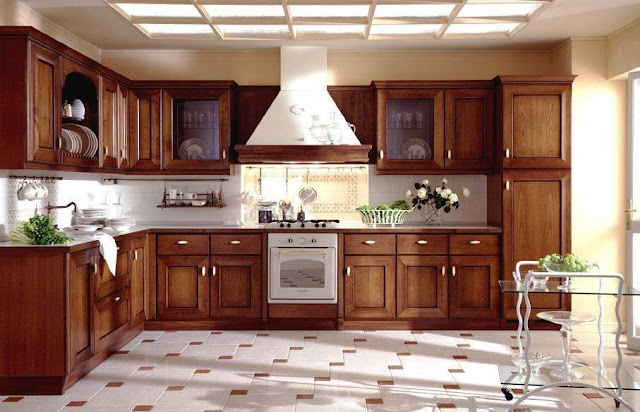 These galleries of beautiful brown wood kitchen is a simple, modern and traditional design styles. Kitchens with brown wood cabinets give warm and and luxurious look and match well with the variety of different countertop materials and finishes. This is also suited for those looking for a warm and elegant kitchen space.