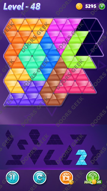 Block! Triangle Puzzle Challenger Level 48 Solution, Cheats, Walkthrough for Android, iPhone, iPad and iPod