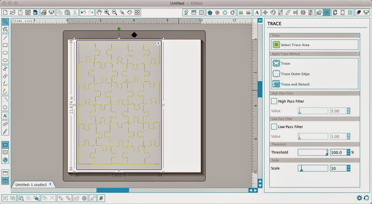 Silhouette tutorial, custom puzzle magnet, DIY, do it yourself, Silhouette Studio, puzzle overlay, trace