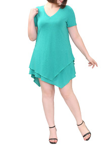 www.shein.com/Blue-V-Neck-Layers-Asymmetrical-Plus-T-shirt-p-270164-cat-1890.html?aff_id=2525