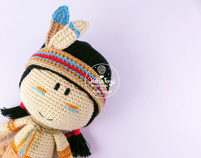 Cochise Indian Boy Julio Toys Crochet Patterns Amigurumi