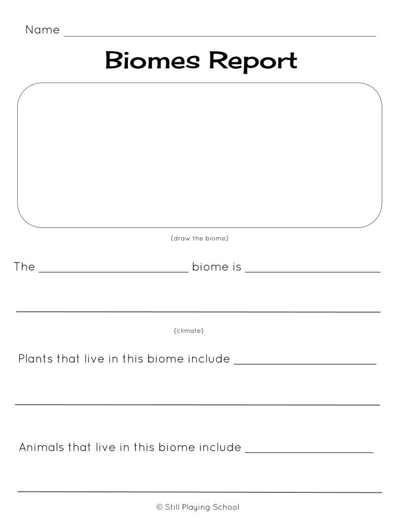 biome reports for kids