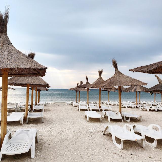 beach umbrellas at the Romanian sea-side