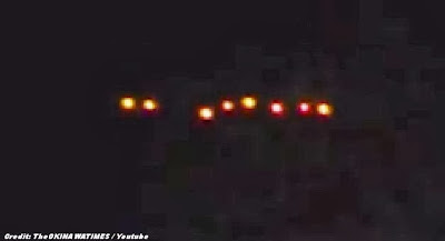 UFOs - Mysterious Lights Over Naha, Okinawa (1 of 2) 1-23-14