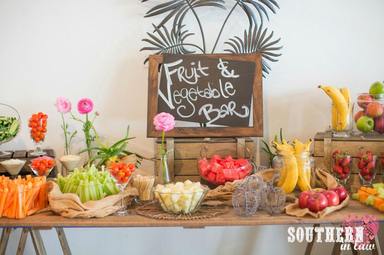 Fruit And Vegetable Bar Gluten Free Wedding Reception Menu Sydney