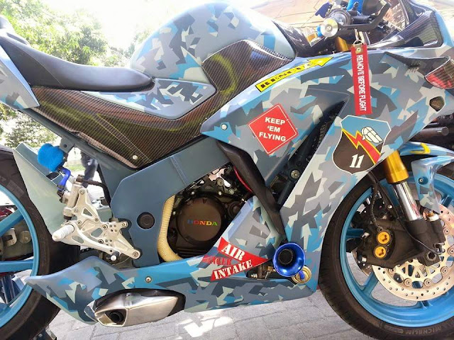 Modifikasi All New Honda CBR 150R by Sena Ponda . . ada Turbocharger dan sayapnya . .