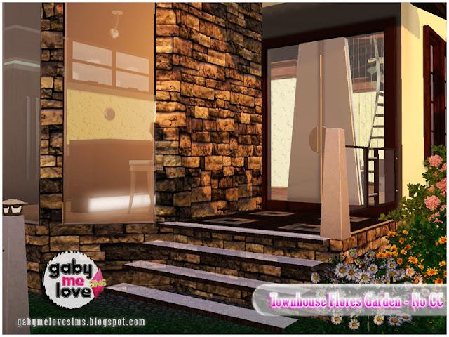 Townhouse Flores Garden |NO CC| ~ Lote Residencial, Sims 3. Entrada.