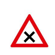 Перекресток или устье с правом преимущественного проезда с права