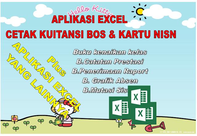 Aplikasi Excel cetak kartu NISN dan Kuitansi Laporan BOS Otomatis Xls.