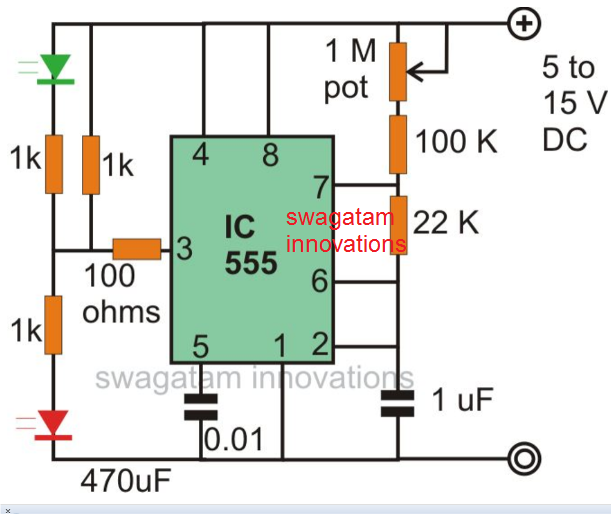 light fader circuit using ic 555