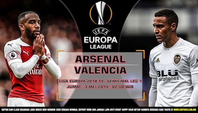 Prediksi Arsenal vs Valencia 3 Mei 2019