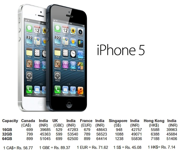 iphone 5 64gb price in india and features