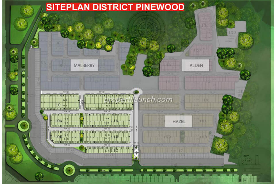 Site plan district Pinewood Banjar Wijaya