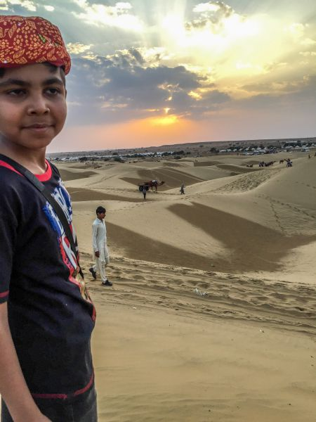 Enjoying the desert