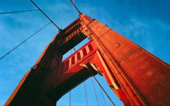 Wallpaper: Pylon from Golden Gate Bridge