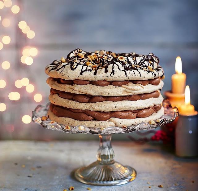 Festive Dessert Meringue Cake