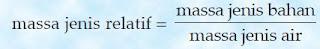 Rumus massa jenis relatif