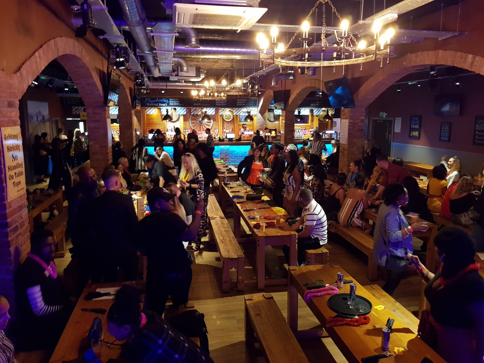the Reggae Brunch venue at Birmingham Bierkeller with dancing attendees
