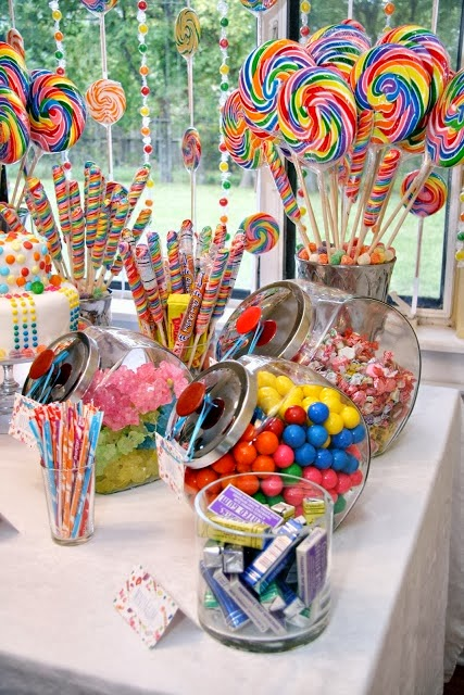 Willie Wonka Charlie and the Chocolate Factory Birthday party ideas for kids and Candy Decorations