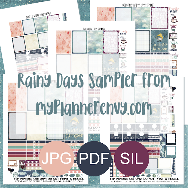 Free Printable Rainy Days Sampler from myplannerenvy.com