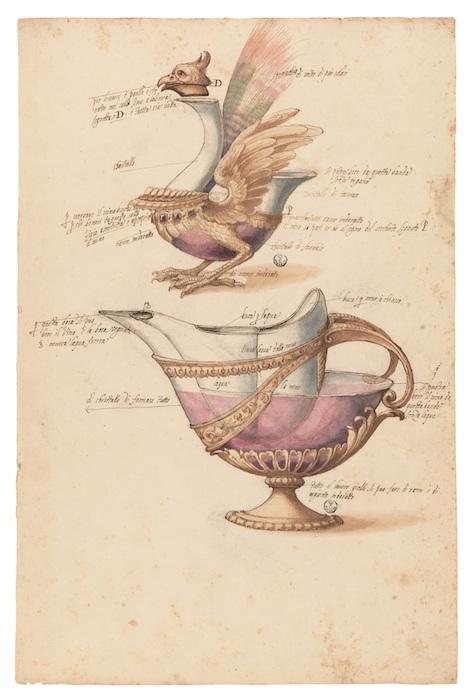 Mostra Jacopo Ligozzi Firenze - Modelli per bicchieri 'da capriccio', 1617-1618