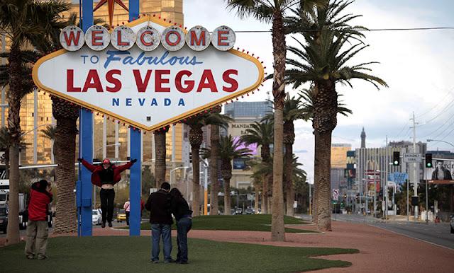Localização da placa Welcome to Fabulous Las Vegas