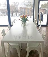 Duralis. Metalinis stalas. Valgomojo stalas.