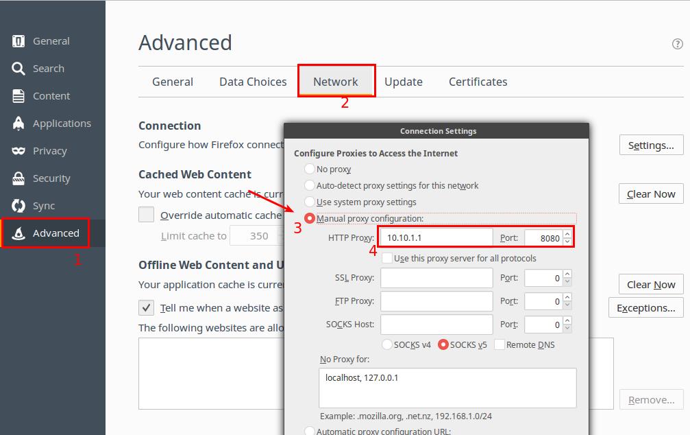 Konfigurasi web proxy
