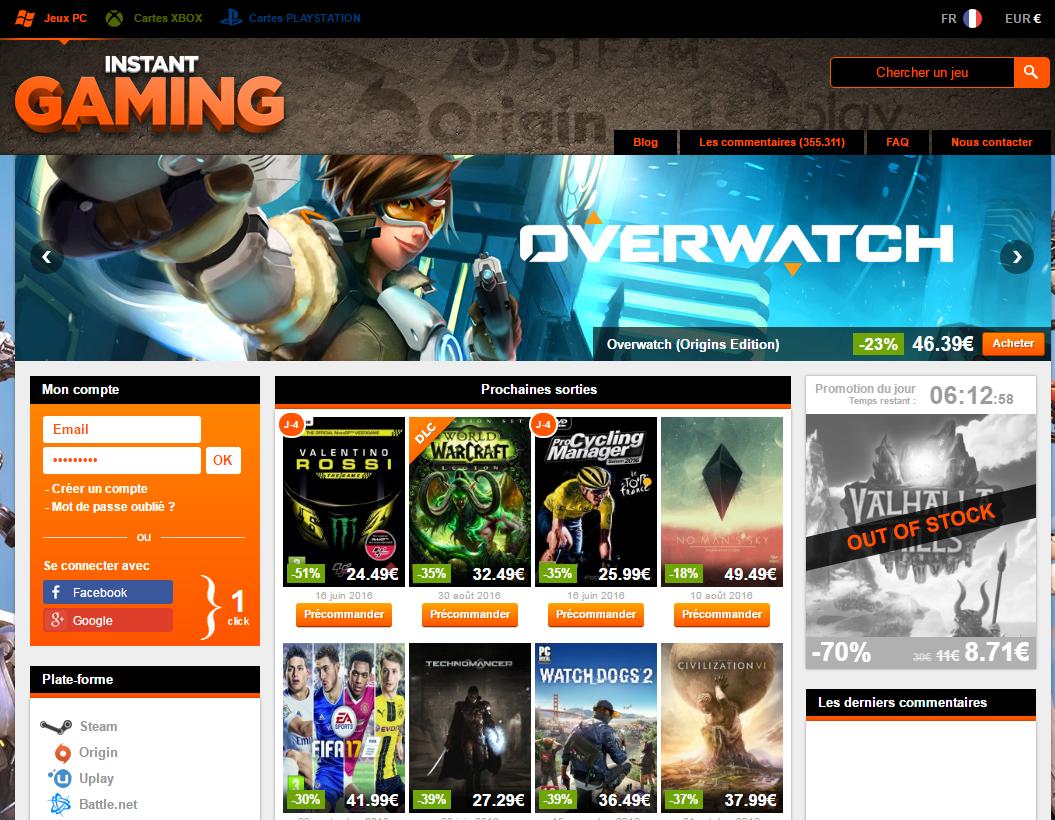 7a0eaa4cc موقع جميل ويتوفر على جميع سيريالات الألعاب وألعاب فيديو الكمبيوتر  والبلايستايشن والإكس بوكس . حيث يتوفر على جديد الألعاب ويتميز بأثمنته  المنخفضة وموثوقيته.