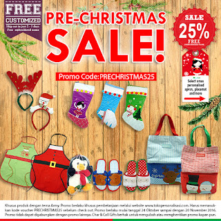 Promo Pre-Christmas Sale