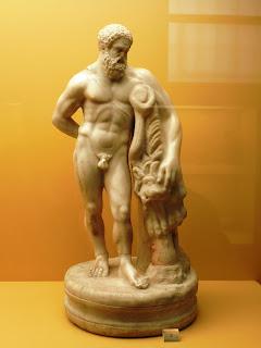 το αγαλμάτιο του Ηρακλή στο Μουσείο της Αρχαίας Αγοράς των Αθηνών