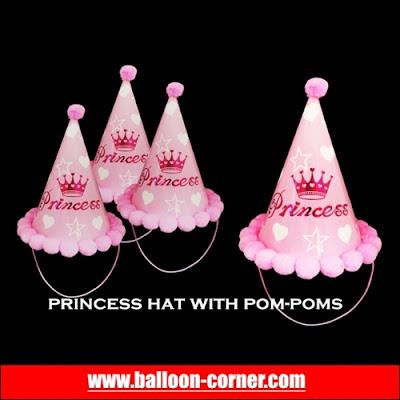 Topi Ulang Tahun Pom Pom PRINCESS