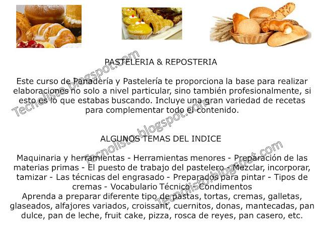 """""""Curso Manual Panadería, Pastelería2"""""""