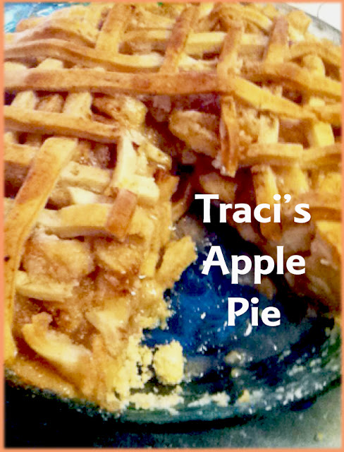 cinnamon sugar apple pie, home made apple pie, pie recipe, traci's pie recipe