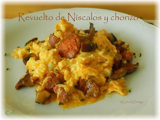 Revuelto De Níscalos Y Chorizo