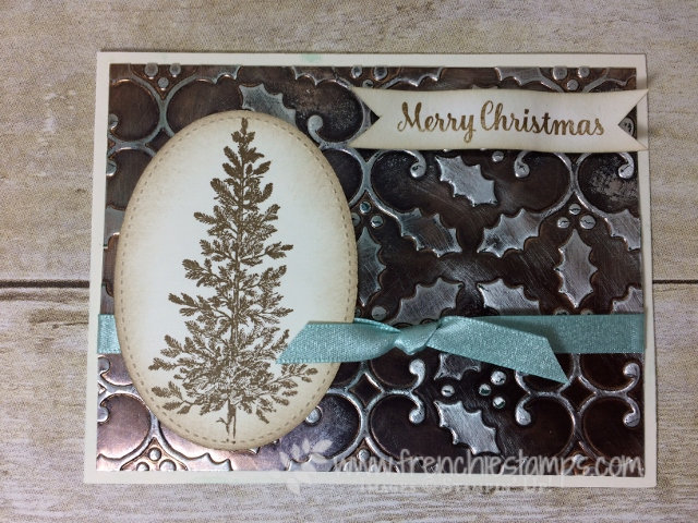 Easy Faux Box, Greeting cad with Bow, Ribbon Stampin'Up!, Lovely as a Tree