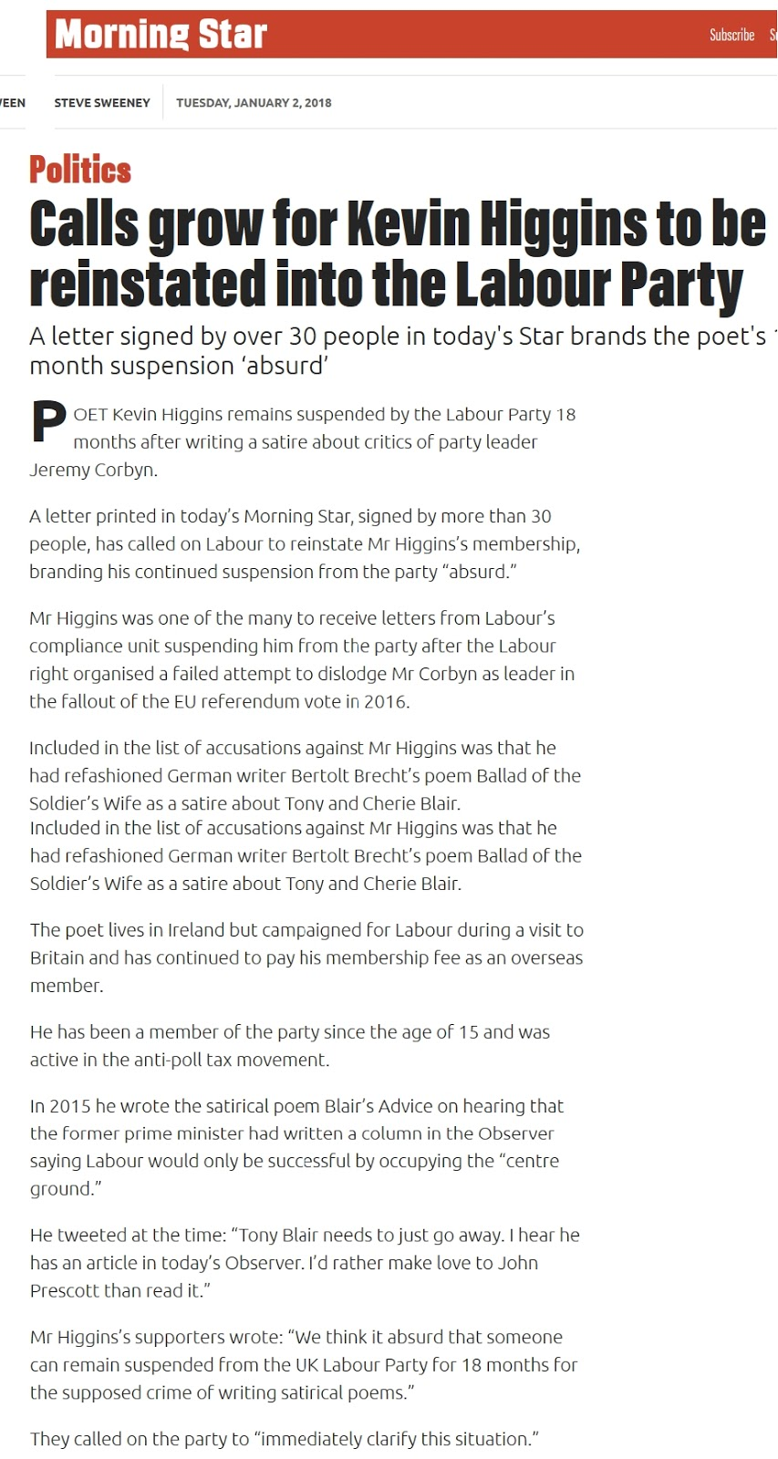 Tony Greenstein Blog: Tony Greenstein's Blog: Suspended By Labour For Writing A