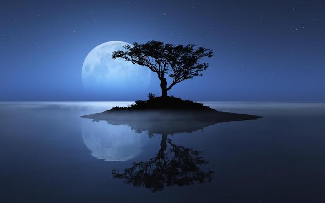 Lua Azul ilustração