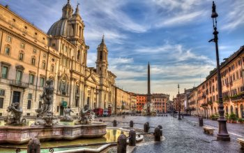 Wallpaper: Piazza Navona and Arch of Constantine