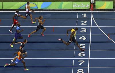 Usain Bolt, Rio 2016, nyári olimpiai játékok, atlétika, Andre de Grasse, Christophe Lemaitre
