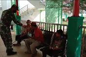 Himbau Pengunjung Pasien di RSUD Subulussalam,Babinsa Terapkan Prokes